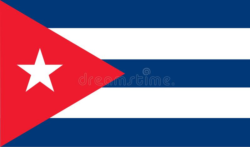 可用的古巴标志玻璃样式向量 皇族释放例证