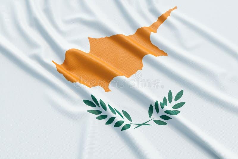 可用的塞浦路斯标志玻璃样式向量 向量例证