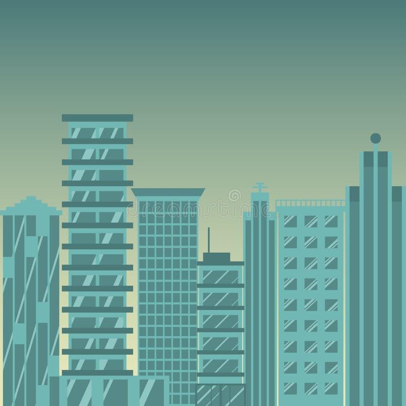 可用的大城市图标向量 向量 库存例证