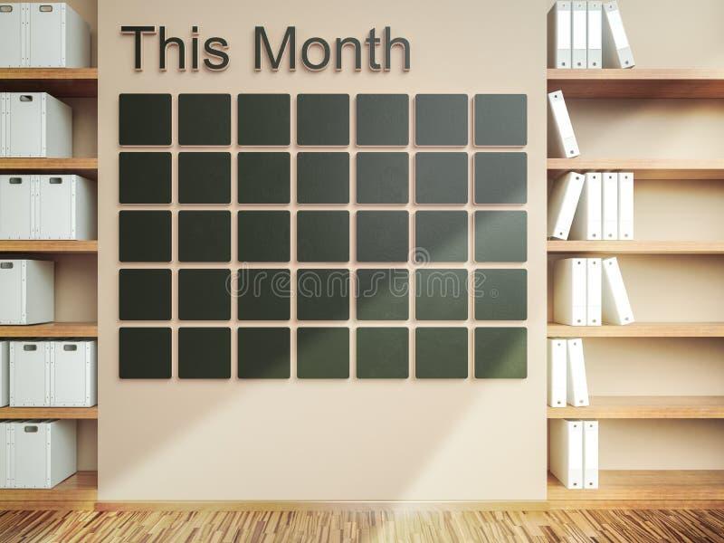 可用的日历更多页系列墙壁 日程表备忘录管理组织者概念 免版税库存照片