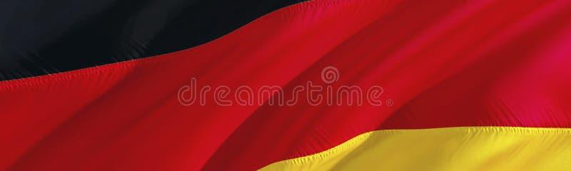可用的标志德国玻璃样式向量 3D翻译挥动的旗子设计 德语的国家标志 3D挥动的标志设计 挥动的标志背景 图库摄影