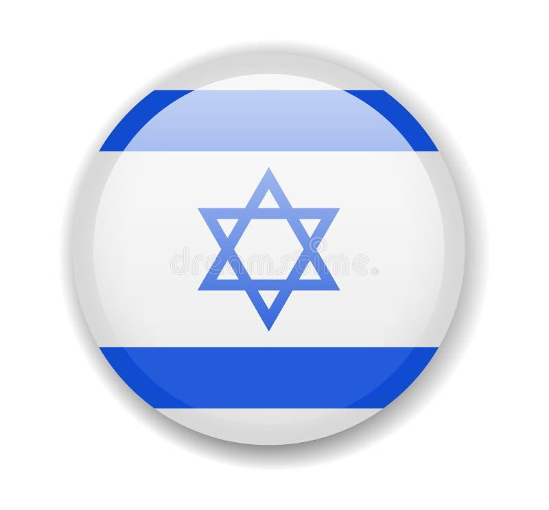 可用的标志玻璃以色列样式向量 在白色背景的圆的明亮的象 皇族释放例证