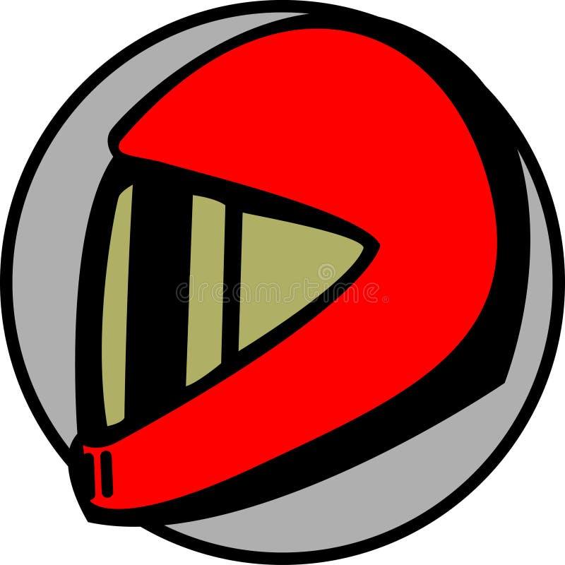 可用的汽车司机盔甲摩托车向量 库存例证