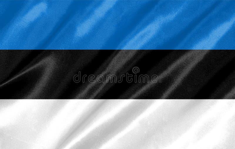 可用的爱沙尼亚标志玻璃样式向量 库存图片