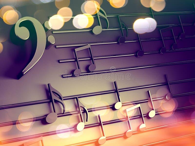 可用的背景两个设计eps8格式jpeg音乐 音乐文字和圣诞颂歌 向量例证