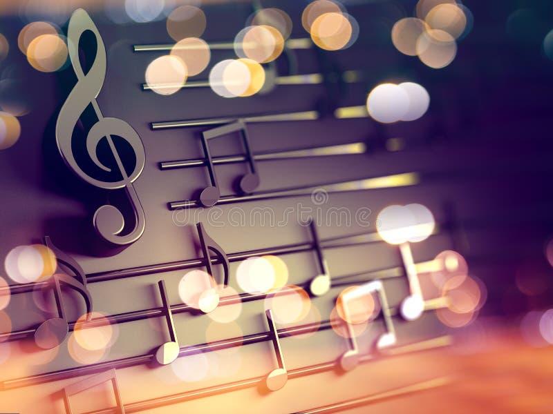 可用的背景两个设计eps8格式jpeg音乐 音乐文字和圣诞颂歌 皇族释放例证