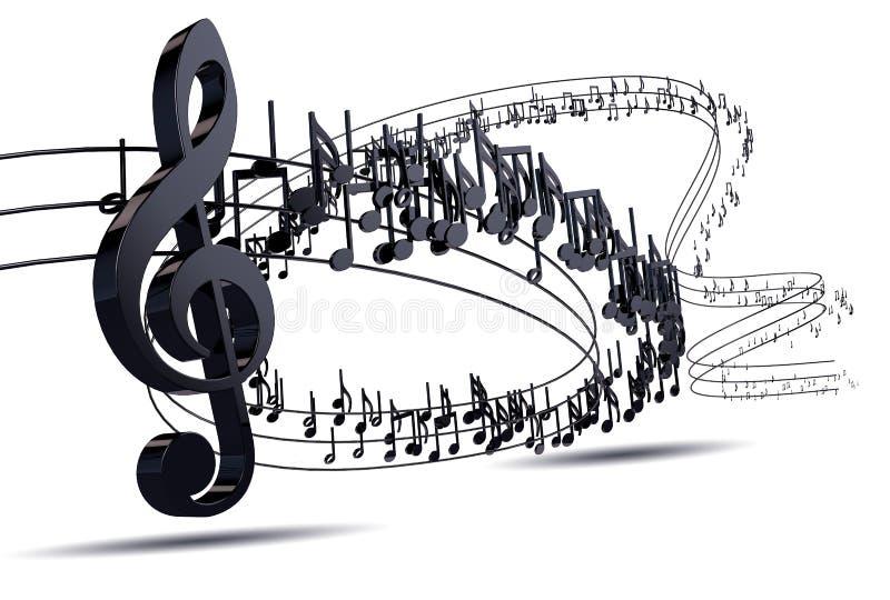 可用的背景两个设计eps8格式jpeg音乐 音乐文字被隔绝在白色 皇族释放例证