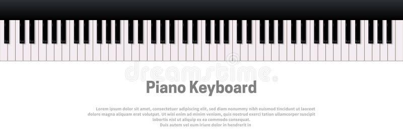 可用的背景eps文件查出关键董事会钢琴白色 传染媒介音乐设计模板 库存例证