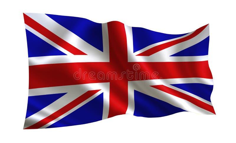 可用的英国标志玻璃样式向量 世界的一系列的`旗子 `国家-英国旗子 库存例证