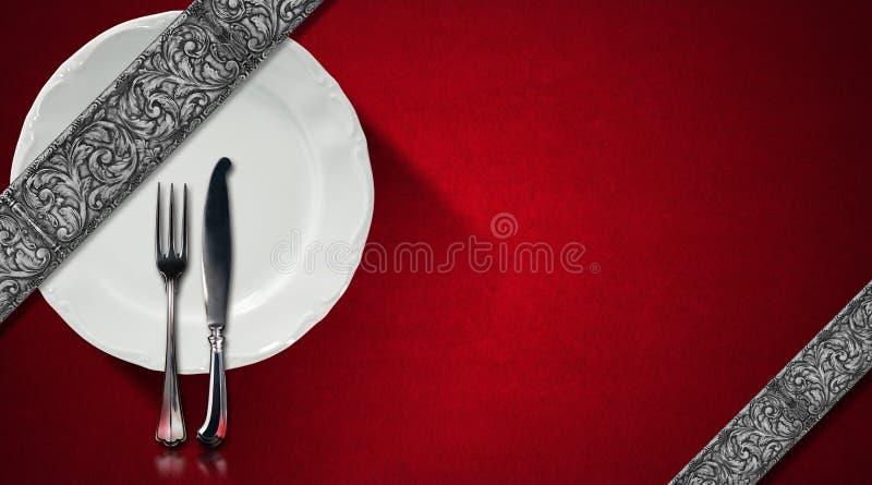 可用的设计菜单餐馆向量 库存例证