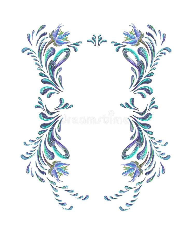 0 8可用的eps花卉框架向量vesion 向量例证