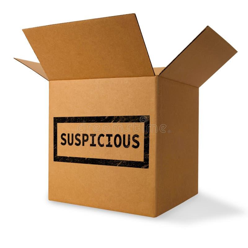 可疑和可能危险的包裹 库存图片