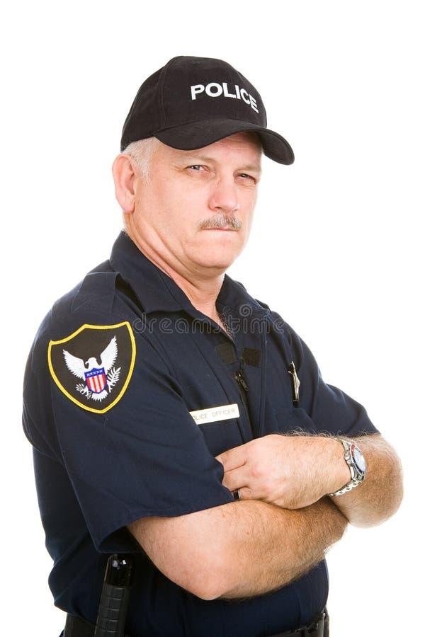 可疑官员的警察 免版税库存图片