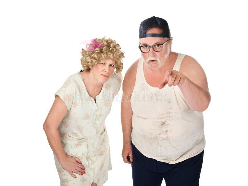 可疑的夫妇 免版税库存照片