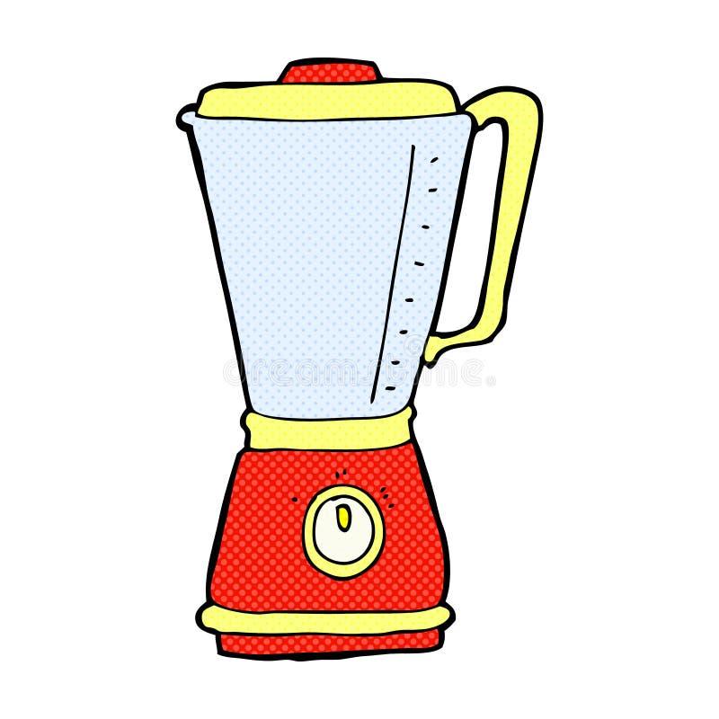 可笑的动画片厨房搅拌器 库存例证