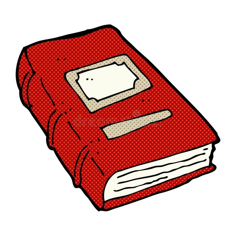 可笑的动画片旧书 向量例证