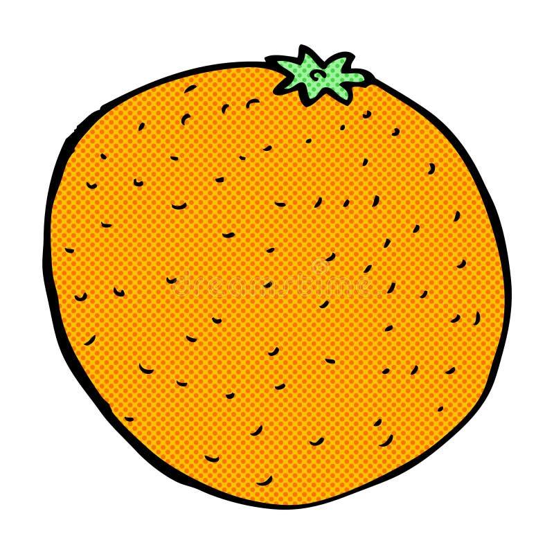 可笑的动画片桔子 库存例证