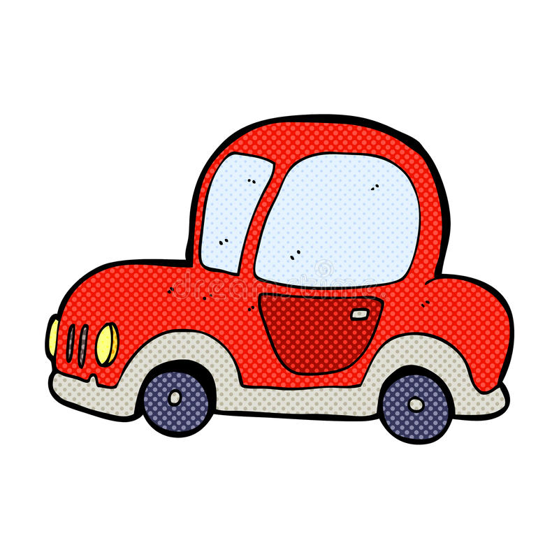 可笑的动画片汽车 库存例证