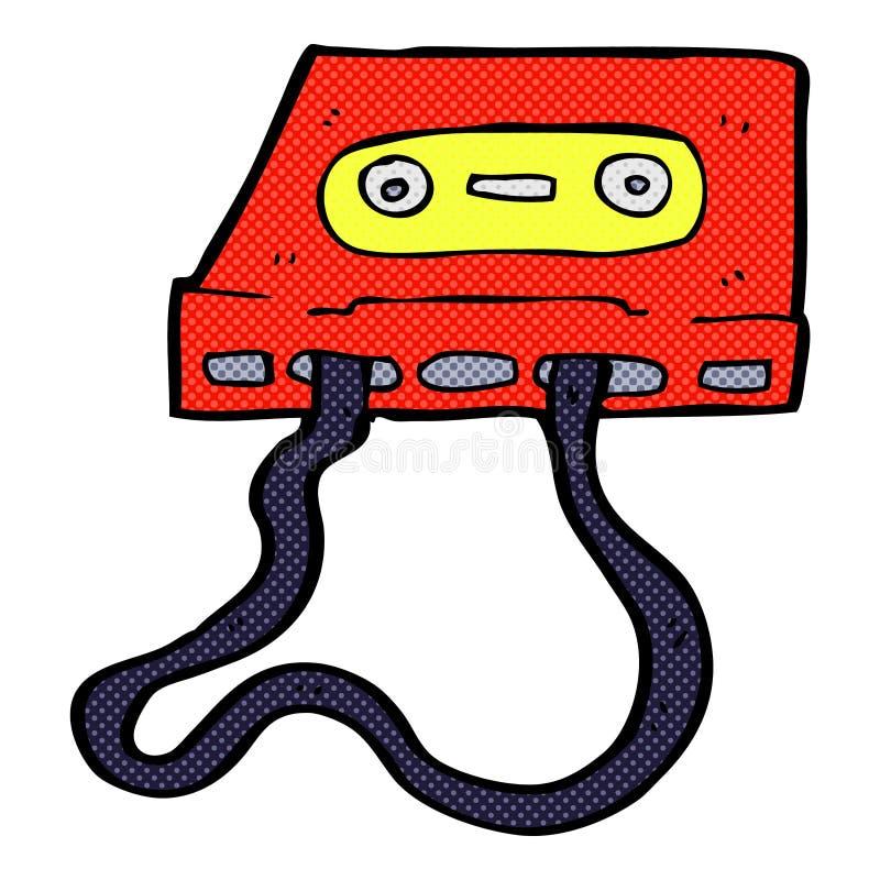可笑的动画片盒式磁带 库存例证