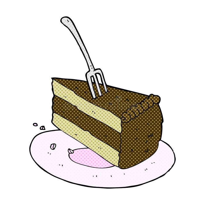 可笑的动画片蛋糕 库存例证