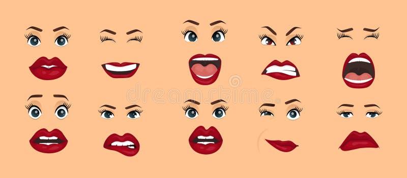 可笑的情感 妇女表情,姿态,情感幸福惊奇憎恶悲伤着迷失望图片