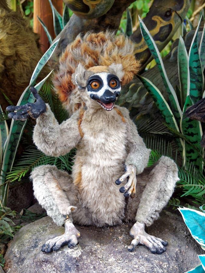 可笑的狐猴 免版税库存照片