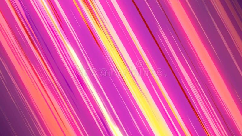 可笑的色的速度线日本芳香树脂3d例证启发的行动 库存例证