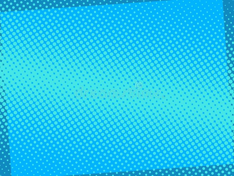 可笑的蓝色背景5 库存例证
