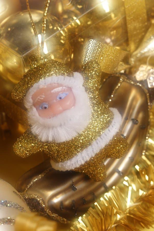 可笑的装饰圣诞老人 库存图片