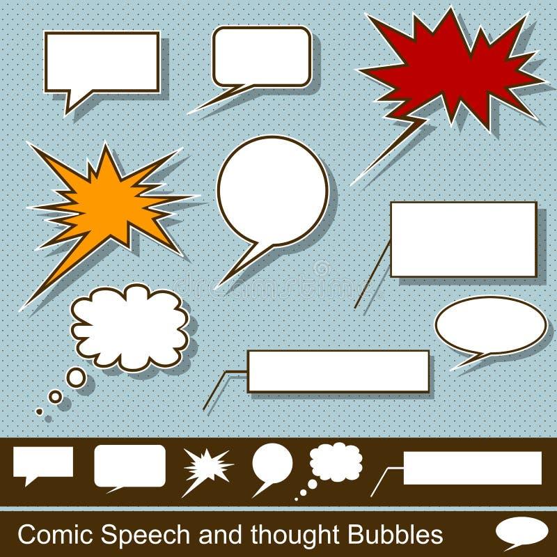 可笑的讲话和想法泡影 向量例证