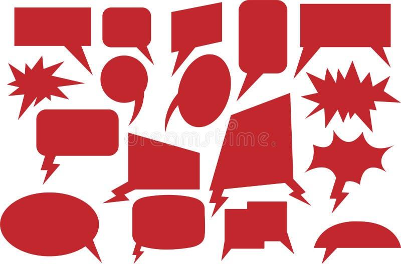 可笑的讲话泡影红色 图库摄影