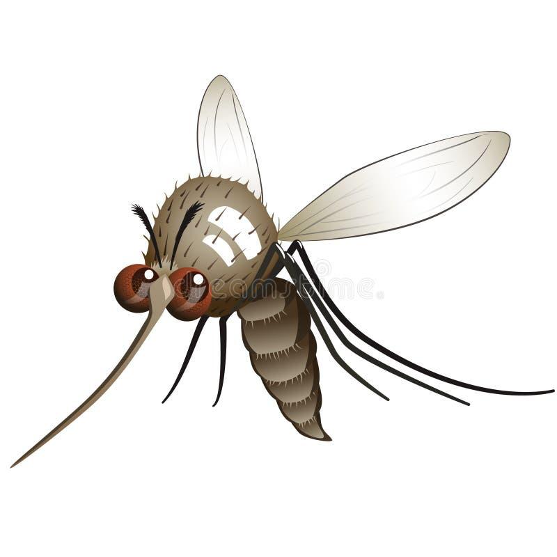 可笑蚊子 皇族释放例证