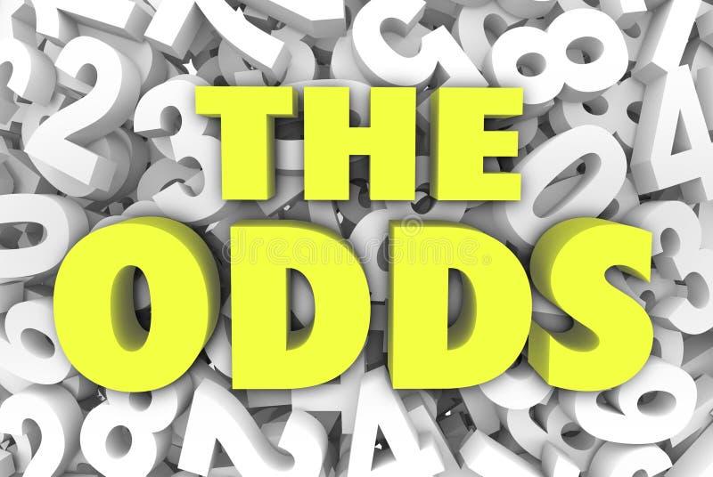 可能性3d词在数字背景机会上写字可能象 向量例证