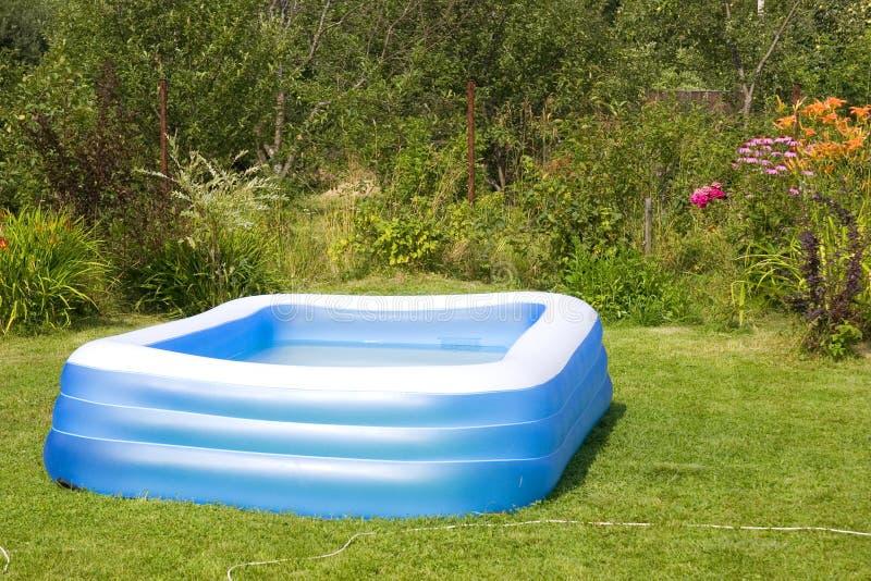 可膨胀的游泳池 免版税库存图片