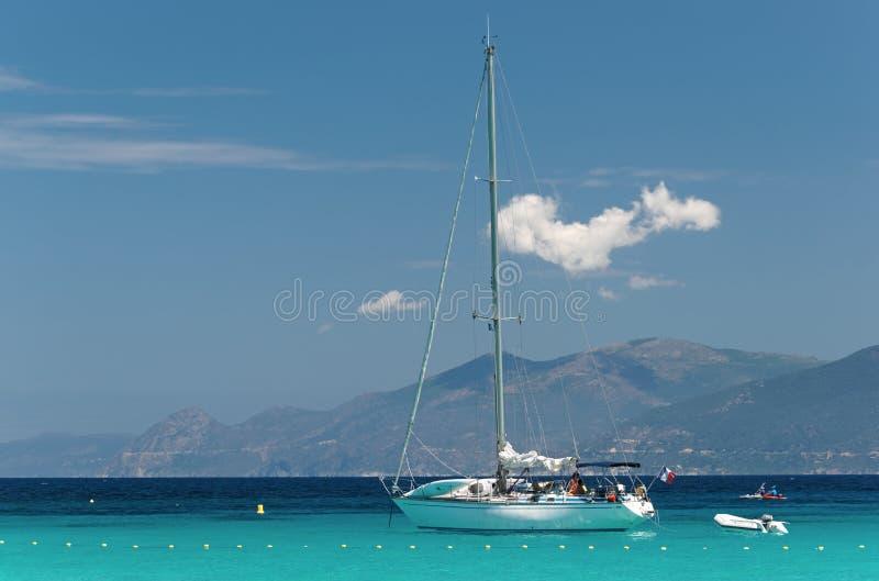 可西嘉岛海岛西部海岸  库存照片