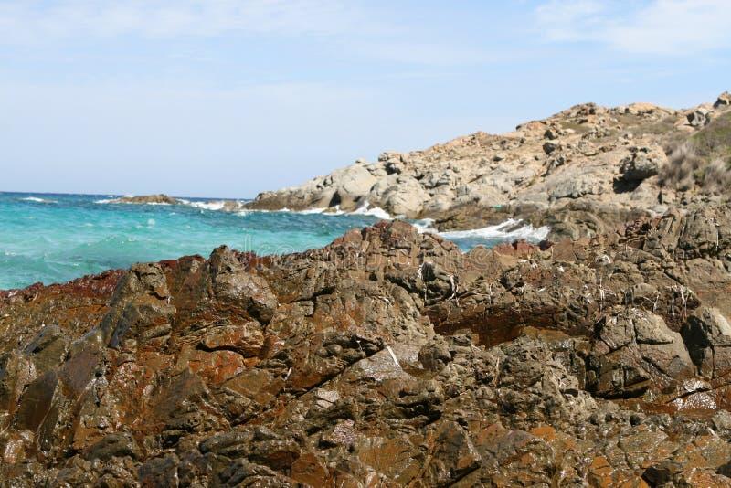 可西嘉岛的风景夏令时 库存图片