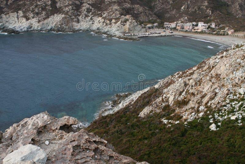 可西嘉岛的风景夏令时 库存照片