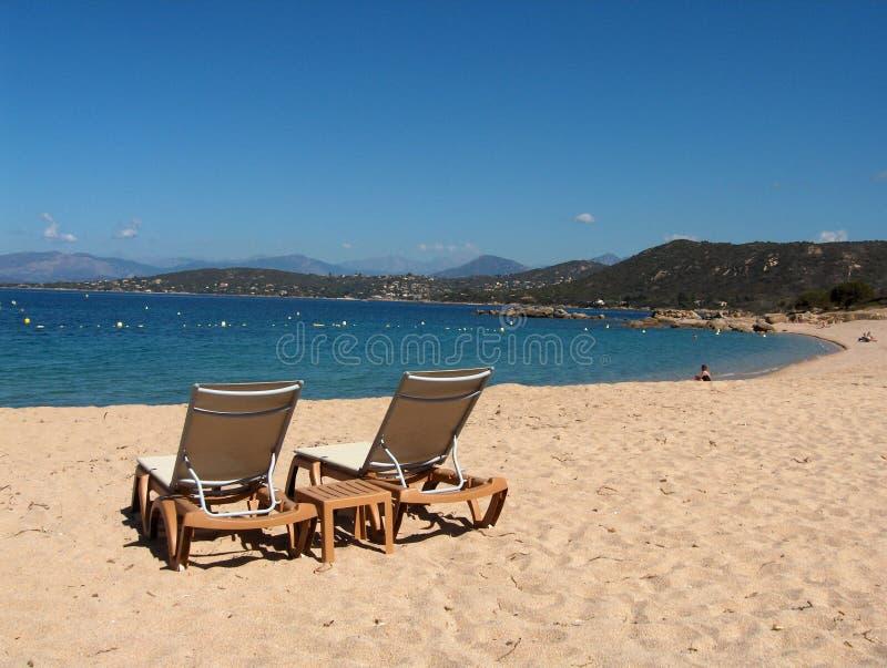 可西嘉岛- Porticcio海滩 库存照片