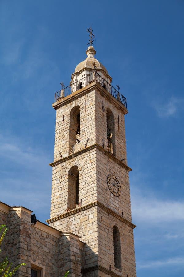 可西嘉岛 Sartene大教堂,外部 库存图片