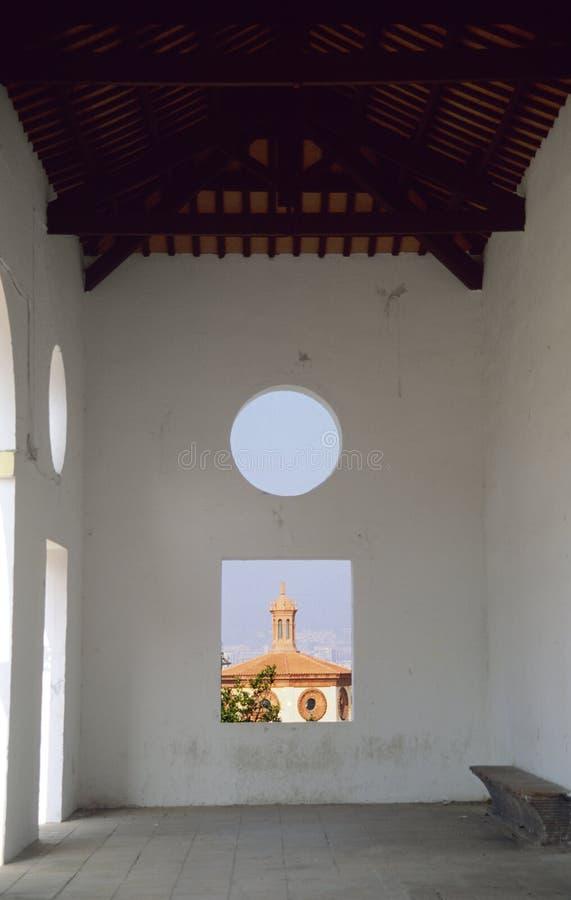 可视抽象巴塞罗那谷物的视图 免版税图库摄影