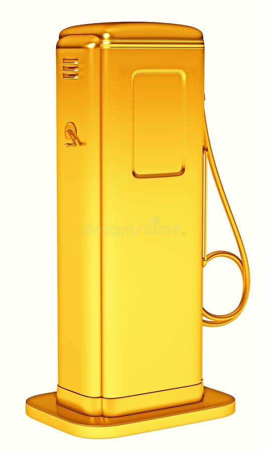 可贵的燃料:被隔绝的金黄加油泵 皇族释放例证