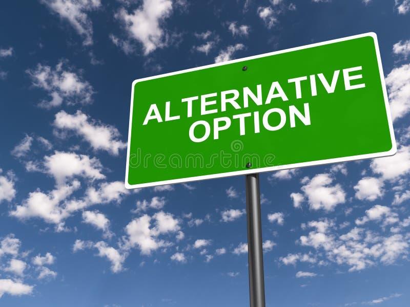 可选择的方案标志 免版税库存图片
