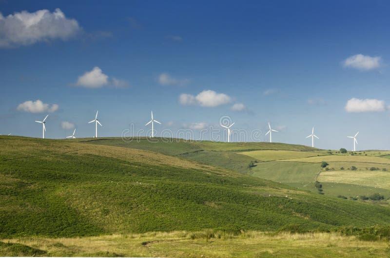 可选择能源农厂来源风 库存照片