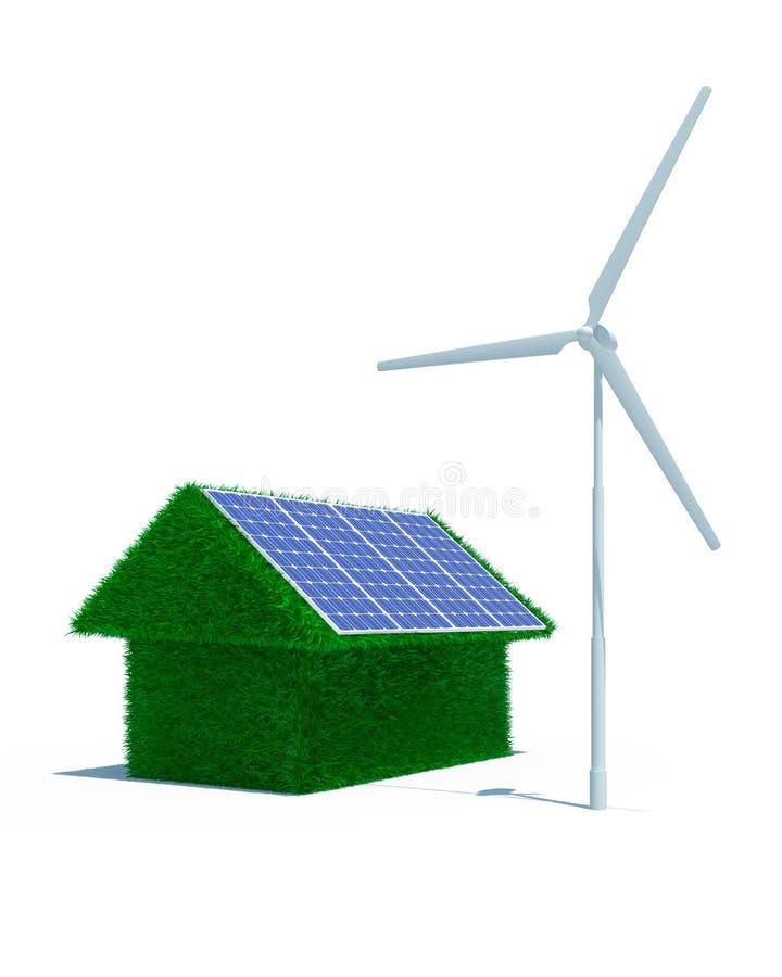 可选择能源房子 皇族释放例证