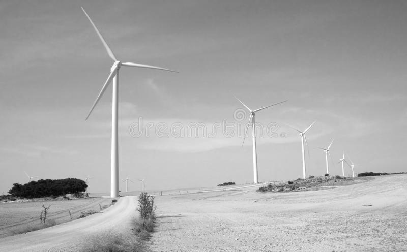 可选择能源风 库存照片