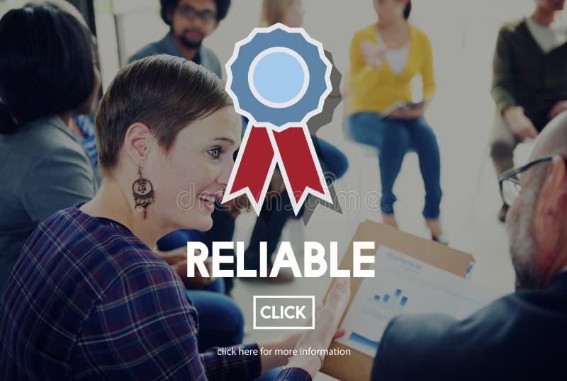 可靠的可信任的徽章负责任的概念 图库摄影