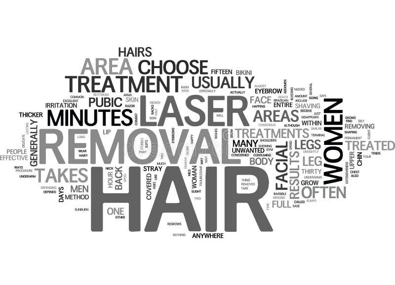 可以对待与激光头发撤除词云彩身体的区域 皇族释放例证