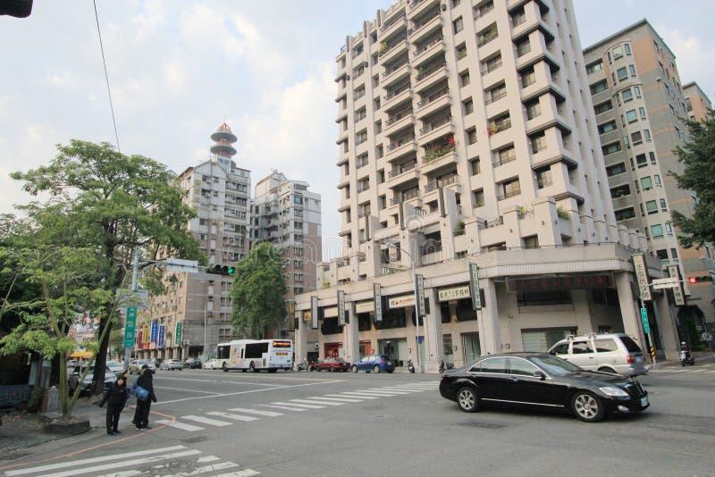 台中街道视图 免版税库存图片