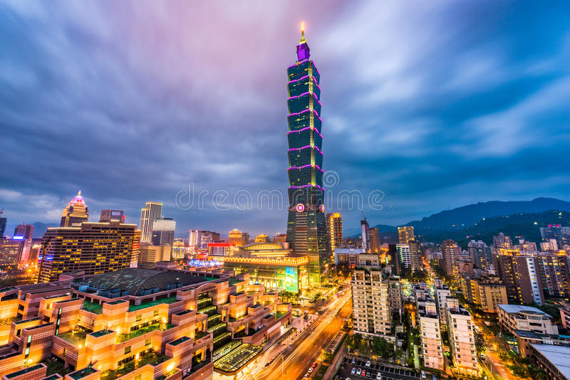 台北台湾地平线 图库摄影