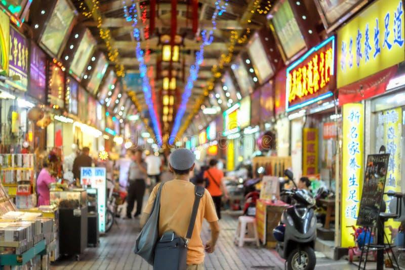 台北夜市场 免版税图库摄影